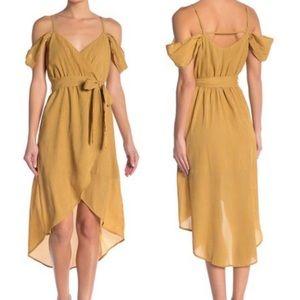 J.O.A. Dresses - NWT J.O.A Cold Shoulder Wrap Dress